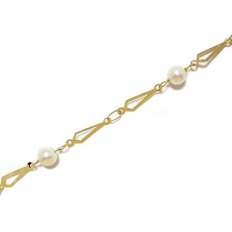 Pulsera oro perla cultivada [64]