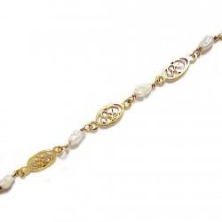 Pulsera oro 18k perla natural [65]