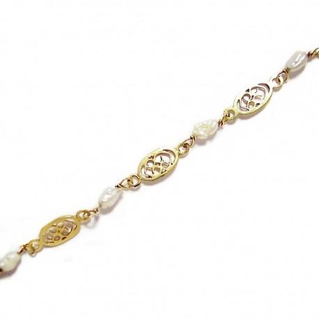 Pulsera oro perla natural [65]