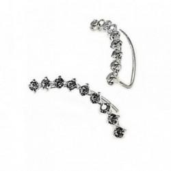 Pendientes plata Ley 925m rodio ear jacket swing circonitas [AB4494]