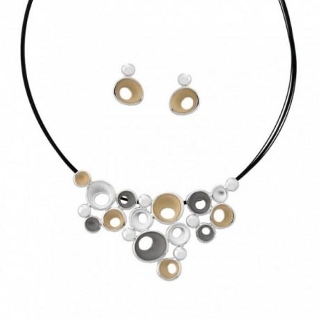 Conjunto ANTONELLI CRUISE bronce gargantilla pendientes [AB4562]