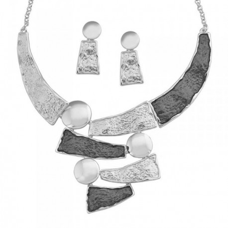 Conjunto ANTONELLI CRUISE bronce gargantilla pendientes [AB4565]