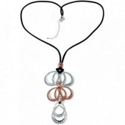 Collar ANTONELLI CRUISE largo bronce detalles círculos [AB4569]