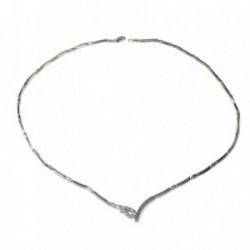 Gargantilla oro blanco 18k circonitas [AB4869]