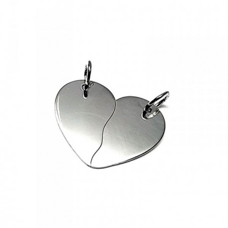 Colgante plata ley 925m 25mm. corazón partido [AA7802GR]