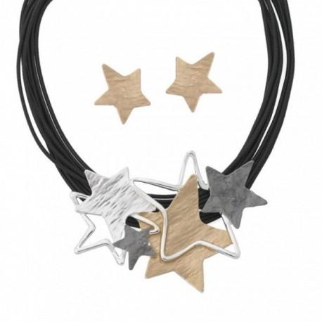 Conjunto ANTONELLI CRUISE bronce gargantilla pendientes [AB4561]