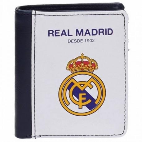 Cartera Real Madrid billetera blanca vertical [AB4234]