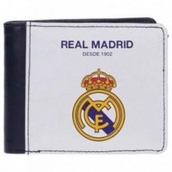 Cartera Real Madrid billetera blanca horizontal [AB4235]