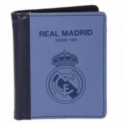 Cartera Real Madrid billetera azul vertical