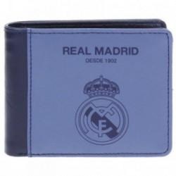 Cartera Real Madrid billetera azul horizontal [AB4237]