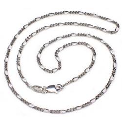 Cadena plata Ley 50 cm. cartier 3x1 [5216]