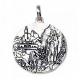 Medalla plata Ley 925m virgen Lourdes 30.7mm. unisex