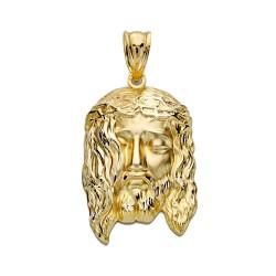 Cabeza rostro Cristo oro 18k 29mm. [AA2454]
