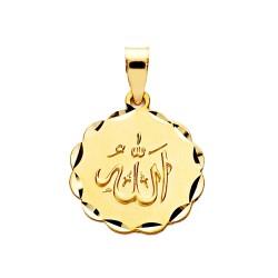 Medalla oro 18k ALÁ ES GRANDE 16mm. [AA2557]