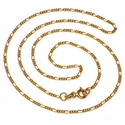 Cadena oro 9k 50cm. eslabón 3x1 ancho 1.5mm. 2.5gr. [AB2476]