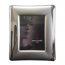 Marco portafotos plata Ley 925m Pierre Cardin fotografía 14x19cm. detalles mate y brillo