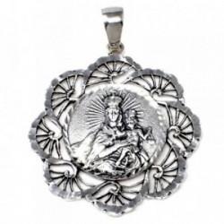 Medalla plata ley 925m Virgen Carmen cerco [AB4966]