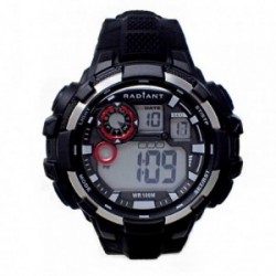 Reloj Radiant hombre New Crash RA439602 digital negro correa silicona