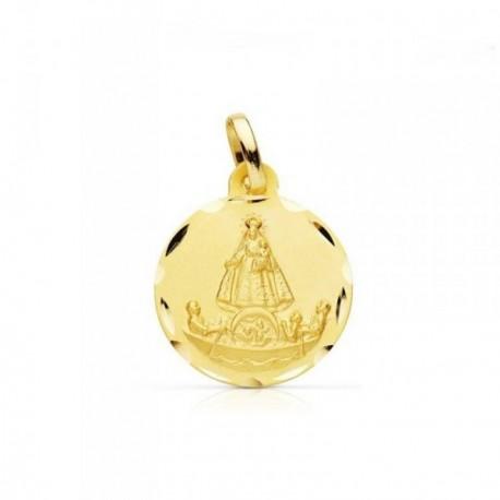 Medalla oro 18k Virgen Caridad del Cobre Cuba [AB4630]