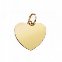 Colgante oro 18k corazón liso plano 14mm. [AB4650GR]