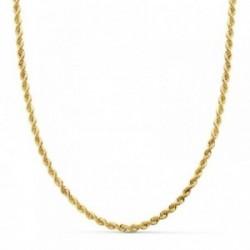 Cordón oro 18k salomónico 50cm. ligero 3mm. [AB4749]