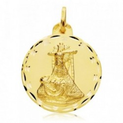 Medalla oro 18k escapulario C. Jesús Virgen Angustias 28mm. [AB4787]