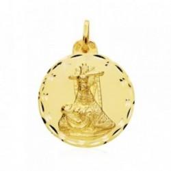Medalla oro 18k escapulario C. Jesús Virgen Angustias 26mm. [AB4788]