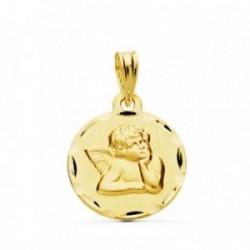 Medalla oro 18k ángel burlón Querubín 16mm. [AB4790]