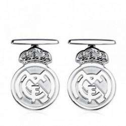 Gemelos escudo Real Madrid oro blanco ley 9k 22mm [AB4807]