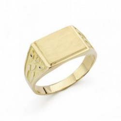 Sello oro 18k cadete tallado rectangular [AB4809]