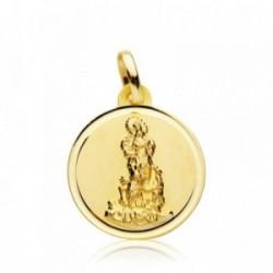 Medalla oro 18k Virgen del Saliente 18mm. bisel [AB4818]