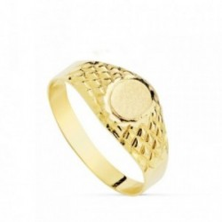 Sello oro 18k oval labrado  [AB4822]