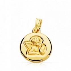Medalla oro 9k Querubín Angel Burlón 14mm. [AB4837GR]