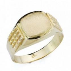 Sello oro 9k caballero tonel tallado hueco [AB4852]
