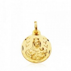 Medalla oro 9k Virgen Carmen 16mm.  [AB4861GR]
