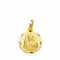 Medalla oro 9k Corazón Jesús 14mm. [AB4862]