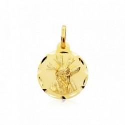 Medalla oro 9k escapulario Virgen Macarena Cristo Gran Poder [AB4863]