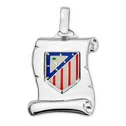 Colgante pergamino escudo Atlético de Madrid Plata ley 25mm. [8444]