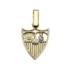 Colgante escudo Sevilla FC oro de ley 18k calado 13mm. [8546]