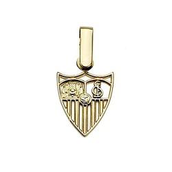 Colgante escudo Sevilla FC oro de ley 18k calado 11mm. [8547]