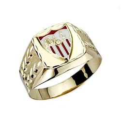 Sello escudo Sevilla FC oro de ley 18k caballero tallado hueco [8555]