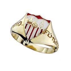 Sello escudo Sevilla FC oro de ley 18k caballero silueta [8589]