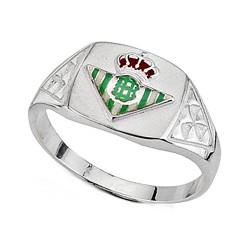 Sello escudo Real Betis plata de ley hueco estrías [8641]