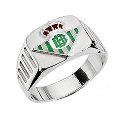 Sello escudo Real Betis plata de ley hueco estrías [8642]