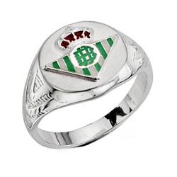 Sello escudo Real Betis plata de ley hueco redondo [8643]