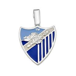 Colgante escudo Málaga CF plata de ley esmalte mediano [8656]