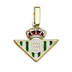 Colgante escudo Real Betis oro de ley 9k 14mm. esmalte [8706]