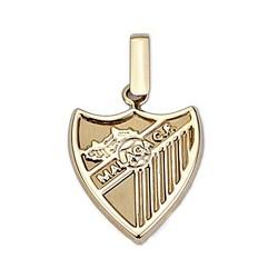 Colgante escudo Málaga CF oro de ley 9k 16mm. liso [8723]