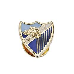 Pin escudo Málaga CF oro de ley 9k 16mm. esmalte [8728]