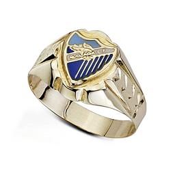 Sello escudo Málaga CF oro de ley 9k cadete hueco [8735]